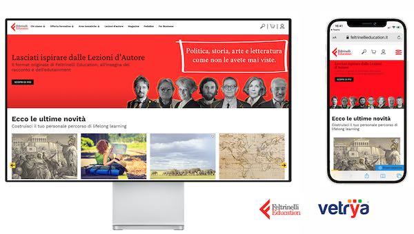 Vetrya rilascia la nuova piattaforma Feltrinelli Education