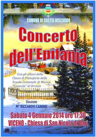 A tutta musica con il concerto dell'Epifania di Viceno