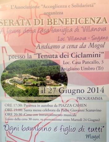 Cena di beneficenza a favore della casa famiglia di Villanova con Padre Scanavino