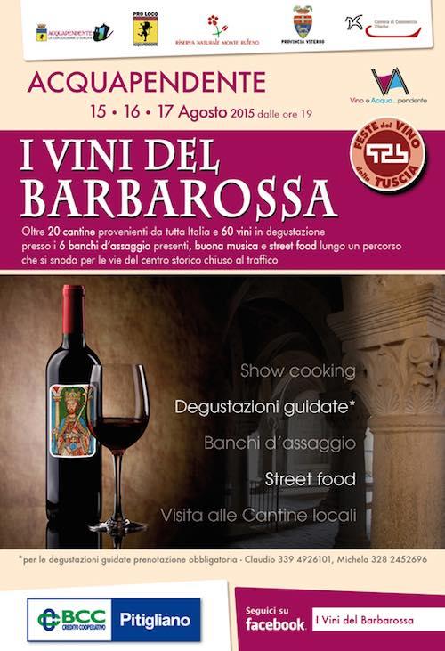 """Tre giorni da bere con la seconda edizione de """"I vini del Barbarossa"""""""