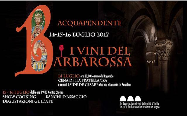 """""""I Vini del Barbarossa"""". Iside De Cesare firma la Cena della Fratellanza alla Fonte del Rigombo"""