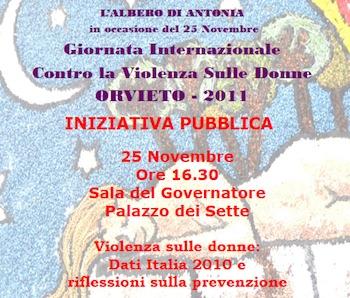 25 Novembre 2011. L'Albero di Antonia propone un'analisi dei Dati Femicidi 2010 in Italia e riflessioni sulla prevenzione