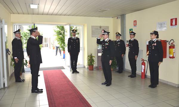 Il comandante della Legione Carabinieri Umbria in visita al Comando Provinciale