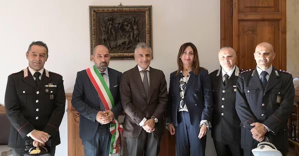 Il nuovo prefetto di Perugia in visita al Comune di Marsciano
