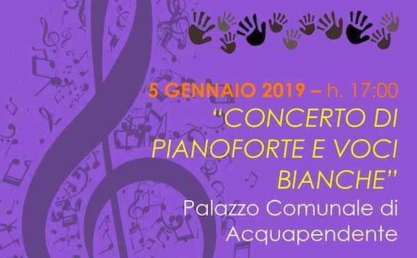 """""""Concerto di pianoforte e voci bianche"""" al Palazzo Comunale"""