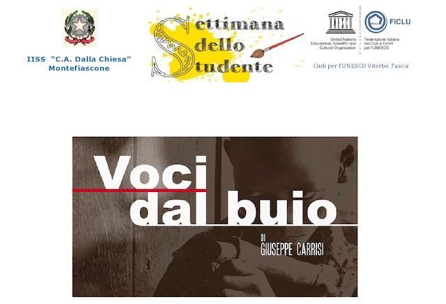"""""""Voci dal buio"""". Incontro con Giuseppe Carrisi all'Istituto """"Dalla Chiesa"""""""