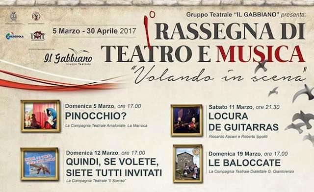 """""""Volando in scena"""" al Teatro dei Calanchi. Undici appuntamenti, fra teatro e musica"""