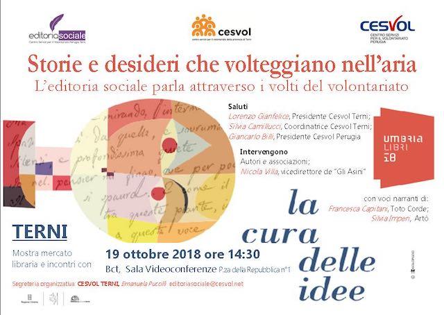 Umbrialibri 2018 Terni. Il Cesvol e il suo impegno per la cura delle idee