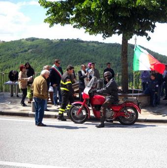 Mercoledi 25 maggio fa tappa a Orvieto la staffetta del Motoclub dei Vigili del Fuoco per il 150° dell'Unità d'Italia