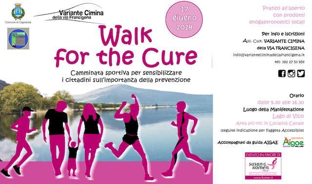 """""""Walk for the Cure"""", torna la camminata per la lotta ai tumori al seno"""