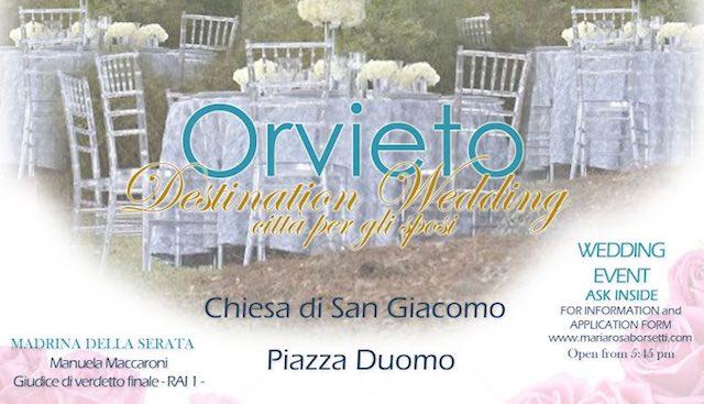 """""""Destination Wedding: Orvieto città per gli sposi"""". Il giorno più bello parte dall'ex Chiesa di San Giacomo"""