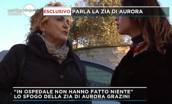 La tragedia di Aurora tocca anche Orvieto, in tv parla la zia