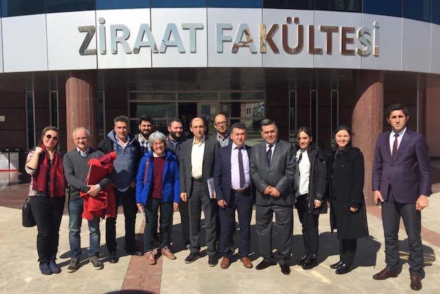 Delegati del progetto Erasmus+ nella Tuscia, la conclusione dei lavori con una giornata di studio sul nocciolo